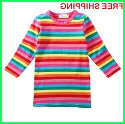Halloween Costumes 4U Child Kids Rainbow Striped Chucky Good