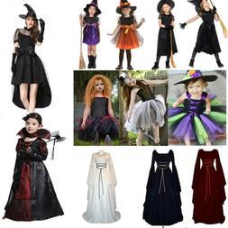 Halloween Party Costume Witch Vampire Cosplay Women Children