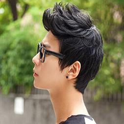 E Support™ Handsome Boys Black Short Wig New Vogue Sexy Ko