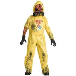 Hazmat Suit Costume Kids Scary Zombie Halloween Monster Fanc