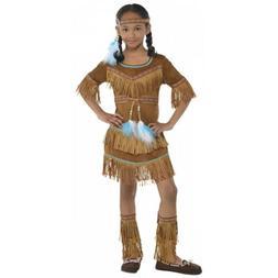Indian Girl Costume Kids Pocahontas Halloween Fancy Dress