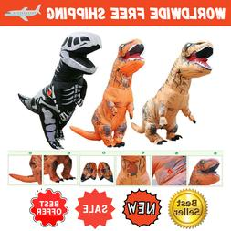 Inflatable Dinosaur Dino Adult kids Costume Funny Cosplay Bl