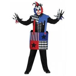 Jack in the Box Costume Kids Scary Jester Halloween Fancy Dr
