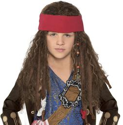 Disney Jack Sparrow Pirate Wig for Kids Pirates of the Carib