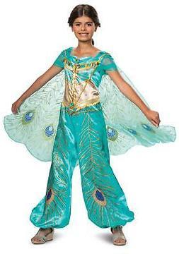 Jasmine Teal Aladdin Disney Princess Deluxe Child Girl Costu