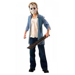 Jason Costume Kids Scary Halloween Fancy Dress