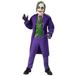 Joker Costume Boys Deluxe Kids Child Youth Batman Villain Ou