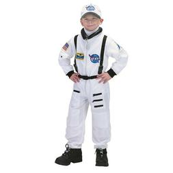 jr astronaut white costume suit with cap