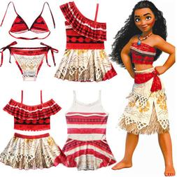 Kids Baby Girls Moana Princess Swimwear Swimsuit Monokini Bi