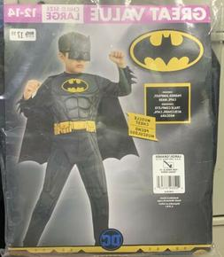 Kids Batman Costume DC Comics Superhero Child LG 12-14 NEW!