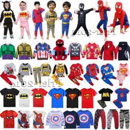 Kids Boy Girl Superhero Hoodies Jacket T-Shirt Tops Pants Ou