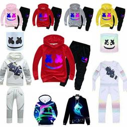 Kids Boys DJ Marshmallow Hoodie + Pants Set Cosplay Costume