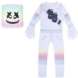 Kids Boys Girls Halloween Party Cosplay Marshmallow Jumpsuit