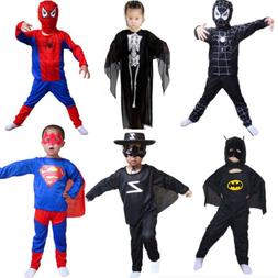 Kids Boys Girls Halloween Rave Party Superhero Spiderman Bat