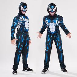 Kids Boys Venom Spider-Man Superhero Cosplay Muscle Costume
