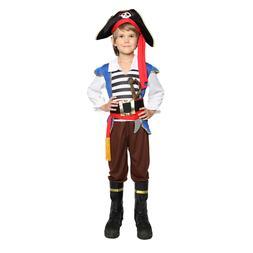 Boys Pirate Costume Kids Buccaneer Costume Captain Caribbean