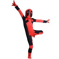 Kids Children Deadpool Costume Superhero Halloween Cosplay j