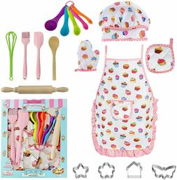 Kids Cooking Baking Set - Children Dress Up Chef Role Play C