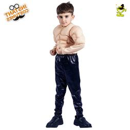 Kids Cool Muscle Man Costume Kids Strong Muscle Boy Cosplay