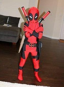Kids  Deadpool Zentai Superhero Costume Boys Child Cosplay F
