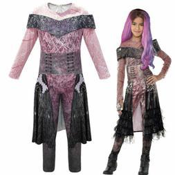 Kids Descendants 3 Audrey Mal Costume Jumpsuit Halloween Cos