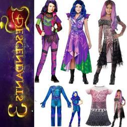 Kids Descendants 3 Audrey Mal Jumpsuit Halloween Cosplay Par