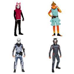 Kids Fortnite Halloween Costume Fishtick or Skull Trooper Bo