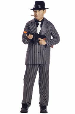 Kids Gangster Pinstriped Zoot Suit Costume California Costum
