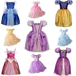 Kids Girls Costume  Princess Fairytale Dress Up Belle Cinder
