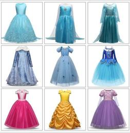 Kids Girls Disney Princess Costume Elsa Anna Cinderella Bell