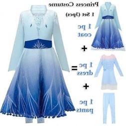 Kids Girls Elsa Dress Princess Party Fancy Dresses Xmas Cosp