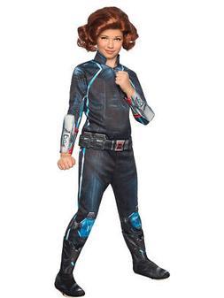 Kids Girls Marvel Deluxe Black Widow Avengers 2  Costume Sma