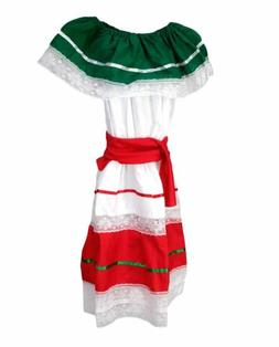 Kids Girls Mexican Traditional Cinco De Mayo Dancer Coco Cos