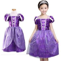 Kids Girls Princess Costume Fairytale Dress Up Belle Cindere