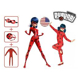 Kids Girls Red Ladybug Cosplay Costume Fancy Jumpsuit / Jump