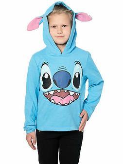 Officially Licensed Disney Kids Girls Stitch Sweater Hoodie