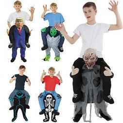 Kids Piggy Back Piggyback Costume Halloween Zombie Skeleton