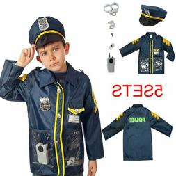 Kids Police Pretend Play Kit Policeman Role set Dress Up Toy