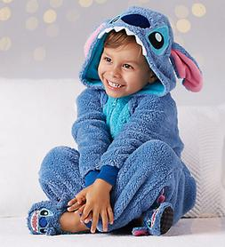 Kids Disney Store Lilo & Stitch Plush Bodysuit Costume & Sli