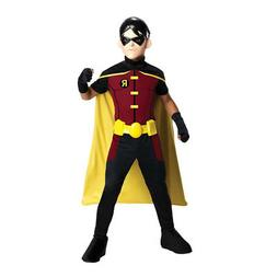 Kids Young Justice Robin Costume Size Large