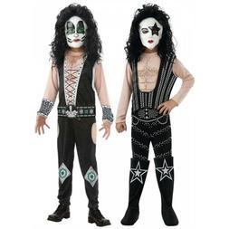 KISS Costume Kids Rock Star Halloween Fancy Dress