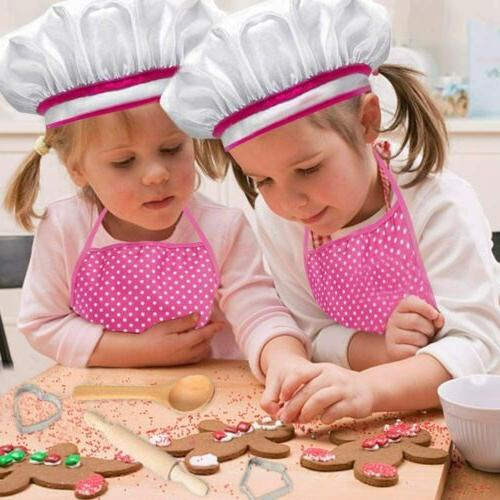 11pcs Cooking / Baking Chef Apron and Hat Children Kitchen Play Costume