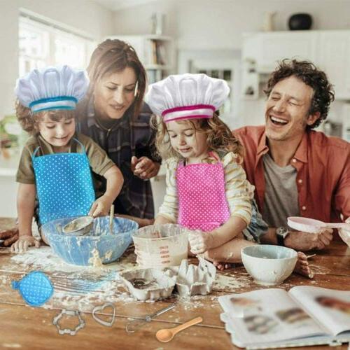 11pcs kids cooking baking set chef apron