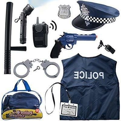 12 Police For Kids Role Play Kit Bag