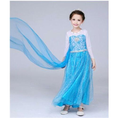 2018 Princess Party Girls Dress with Crown and Y