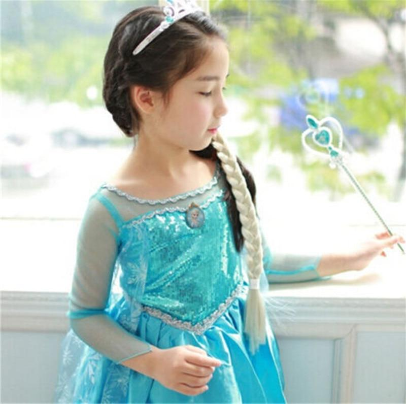 2019 Girls frozen <font><b>costume</b></font> <font><b>Dress</b></font> Snow Princess Queen <font><b>Dress</b></font> Gown Tulle 3-8Y