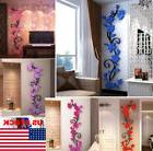 3D Butterfly Flower Fairy Floral Girl Wall Sticker Home Deco