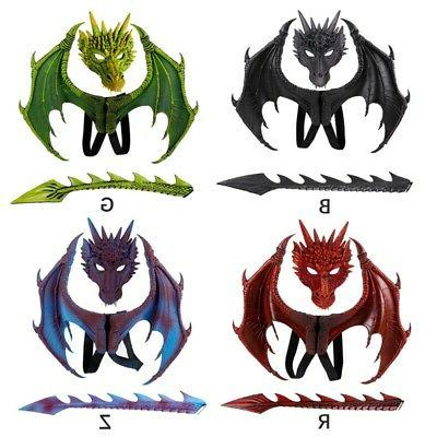 3pcs dragon cosplay props wing and tail