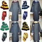 Adult Child Robe Cloak Scarf Tie Set School Cosplay Costumes