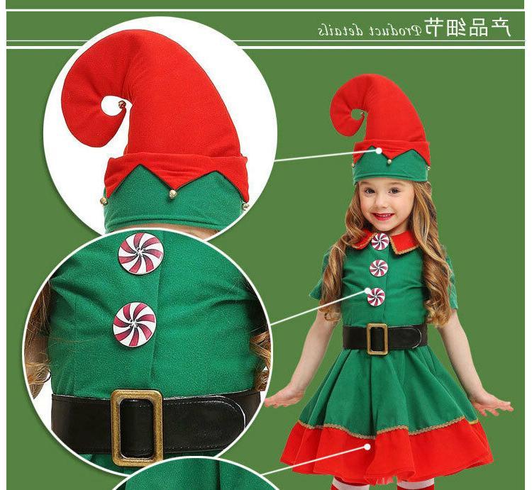 Adult Men Christmas Elf Children's Clothing Costumes